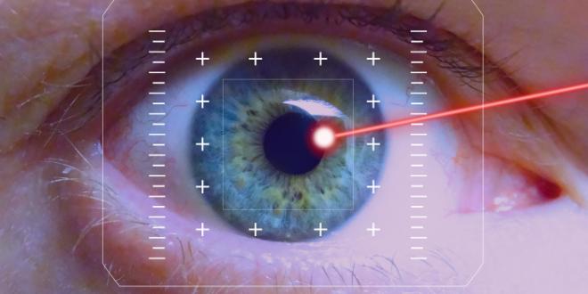 Occhi come puntatori laser