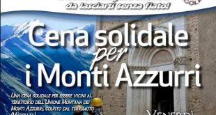 Cena solidale per la ricostruzione del territorio dei Monti Azzurri