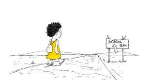 Diritti dei bambini: vignette di ActionAid sulla giornata di una fanciulla